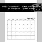 2012 calendar portrait quickmix small