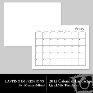 2012 calendar template landscape medium