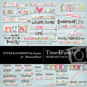 Time 4 family wordart medium