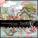 Time 4 Family Embellishment Pack-$3.49 (Ettes and Company by Fayette)