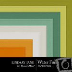 Water Fun Embossed Paper Pack-$1.25 (Lindsay Jane)