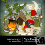 Night Camping Embellishment Pack-$2.99 (Indigo Designs)