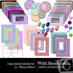 Wild About Zebra Embellishment Pack-$2.49 (Tara Reed Designs)