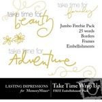 Take Time Wrap Up Free Embellishment Pack-$0.00 (Lasting Impressions)