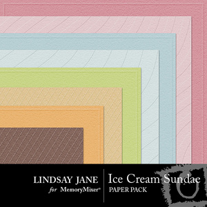 Ice cream sundae embossed pp medium