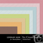 Ice Cream Sundae Embossed Paper Pack-$2.49 (Lindsay Jane)