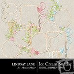 Ice cream sundae frames small