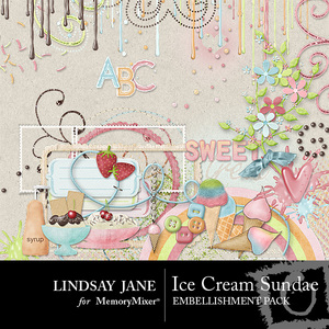 Ice cream sundae emb medium
