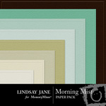 Morning Mist Embossed Paper Pack-$2.49 (Lindsay Jane)