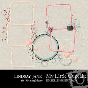 My little cupcake frame pack medium