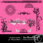 Art Brush Vol 1 Embellishment Pack-$1.99 (Karen Lewis)