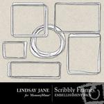 Scribbly Frame Pack-$1.99 (Lindsay Jane)