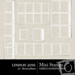 Mini Stamps Embellishment Pack-$1.99 (Lindsay Jane)