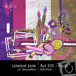 Art 101 Girls Mini Pack-$3.49 (Lindsay Jane)