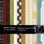 Explore Learn Grow Paper Pack-$3.99 (Krista Sahlin)