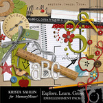 Explore Learn Grow Embellishment Pack-$3.99 (Krista Sahlin)