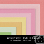 Field of Flowers Embossed Paper Pack-$2.99 (Lindsay Jane)