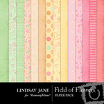 Field of Flowers Paper Pack-$3.99 (Lindsay Jane)