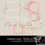 Field of Flowers Frame Pack-$1.99 (Lindsay Jane)