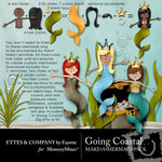Going Coastal Mermaid Embellishment Pack-$2.99 (Ettes and Company by Fayette)