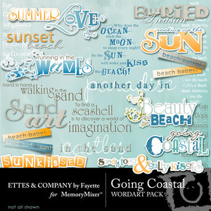 Going coastal wordart medium