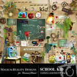 School Kid Embellishment Pack-$3.49 (MagicalReality Designs)