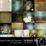 School Kid Paper Pack-$3.99 (MagicalReality Designs)