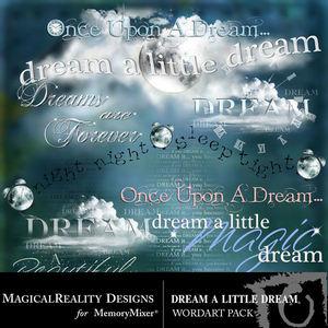 Dream a little dream wordart medium