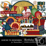 Birthday ATR Embellishment Pack-$3.25 (Albums to Remember)