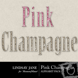 Pink champagne bling alphas medium