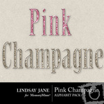 Pink champagne bling alphas small