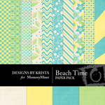 Beach Time Paper Pack-$2.00 (Designs by Krista)