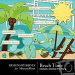Beach Time Embellishment Pack-$1.50 (Designs by Krista)