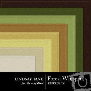 Forest whispers embossed pp medium