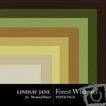 Forest Whispers Embossed Paper Pack-$1.25 (Lindsay Jane)