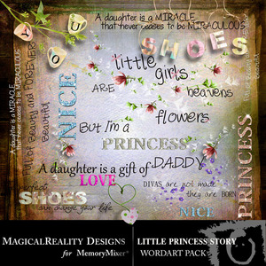 Little princess story wordart medium