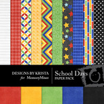 School Days Paper Pack-$2.40 (Designs by Krista)