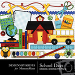 School Days Embellishment Pack-$2.99 (Designs by Krista)