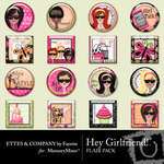 Hey Girlfriend Flair Pack-$1.99 (Fayette Designs)