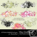 Hey Girlfriend Splattered Swirls-$2.49 (Ettes and Company by Fayette)
