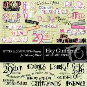 Hey girlfriend wordart medium