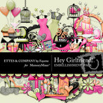 Hey Girlfriend Embellishment Pack-$3.49 (Ettes and Company by Fayette)