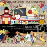 School Zone Embellishment Pack-$3.49 (Ettes and Company by Annette)