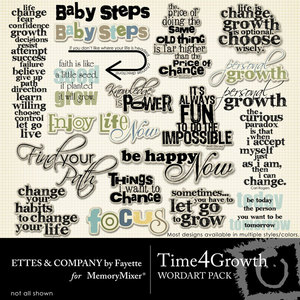 Time 4 growth wordart medium