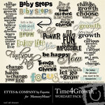 Time 4 growth wordart small