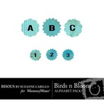Birds n Bloom Alphabet Pack-$0.99 (Bisous By Suzanne Carillo)