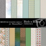 Birds n Bloom Paper Pack-$3.99 (Bisous By Suzanne Carillo)