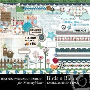 Birds n bloom emb medium