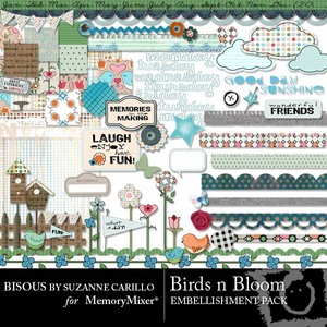 Birds n bloom emb medium