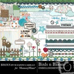 Birds n Bloom Embellishment Pack-$1.49 (Bisous By Suzanne Carillo)
